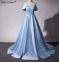 SINGLE ELEMENT Real Photo Off-the-Shoulder Women Satin Bridesmaid Dress Sale Alibaba