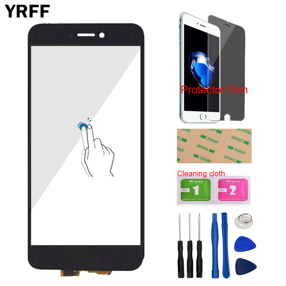 5.2'' Touch Screen Glass For HuaWei P8 Lite 2017 Touch Screen Touch Digitizer Panel Front Glass Tools Protector Film Adhesive