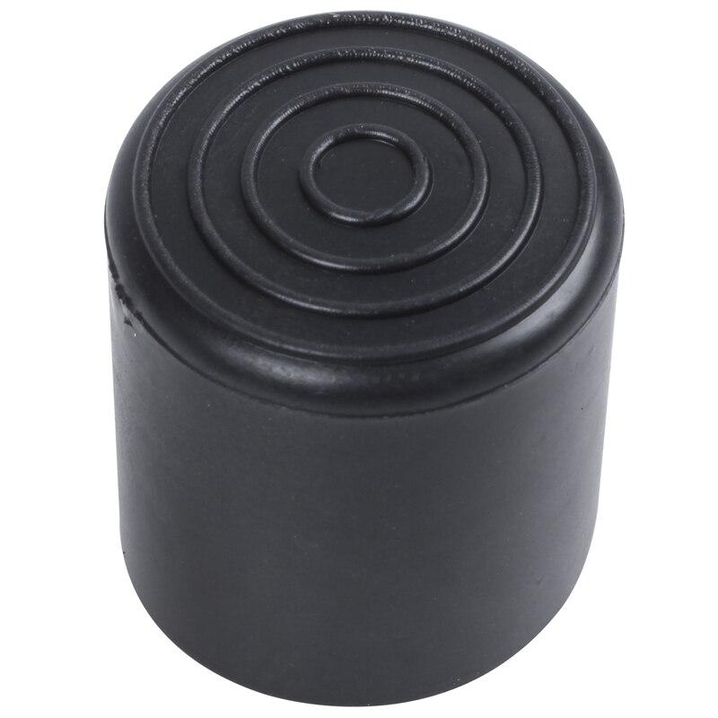 ABFU-Rubber Furniture Crutch Feet Stool Chair Leg Tip Pad 4Pcs Black
