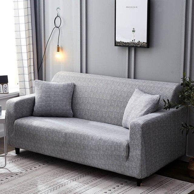 Фото стрейч диван крышка чехлов упругой все включено диване чехол цена