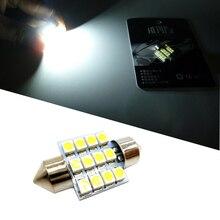 цена на 31mm 12-SMD 3528 DE3175 DE3022 LED Bulbs For Car Interior Dome Light Lamp White DC 12V Car Accessories Interior