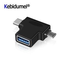 Адаптер Kebidu OTG для Android, USB Type C адаптер для USB 3,0, гнездовой разъем 5P, мужской для телефона, Ipad, компьютера