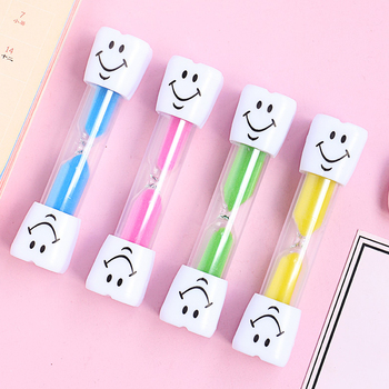Cute Smiling Face Hourglass Children Kids Brushing Teeth Sands Timer Sandglass Dedicated Timer for Restaurant Waiting image