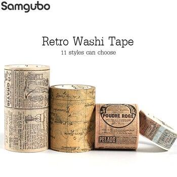Retro Washi Tape set Vintage  Decoration Scrapbooking  Masking washitape Decorative wash whasi decorada stickers journal 1