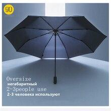 90 minuti Ombrello Impermeabile Anti Uv oversize rinforzato Ombrello tre pieghevole di Protezione Rovesci di Pioggia Ombrello H15