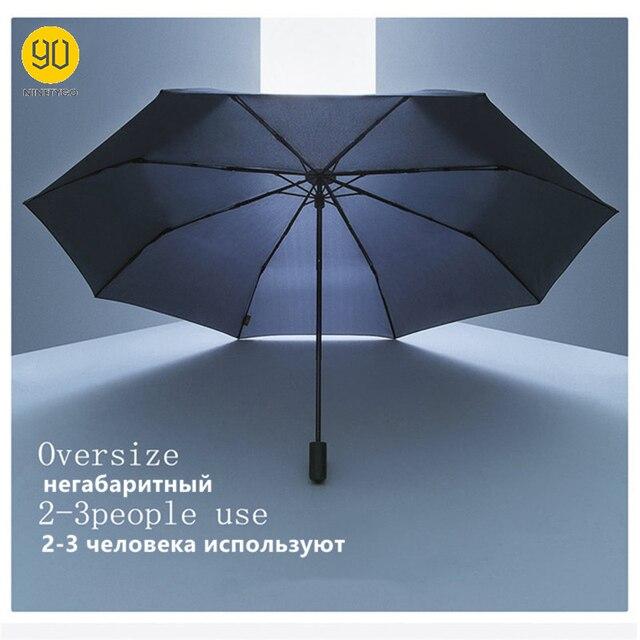 90 분 우산 방수 안티 uv 특대 강화 우산 세 접는 보호 맑은 비가 우산 H15