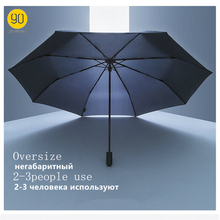 Parapluie 90 minutes imperméable Anti UV surdimensionné parapluie renforcé trois pliant Protection ensoleillé parapluie pluvieux H15
