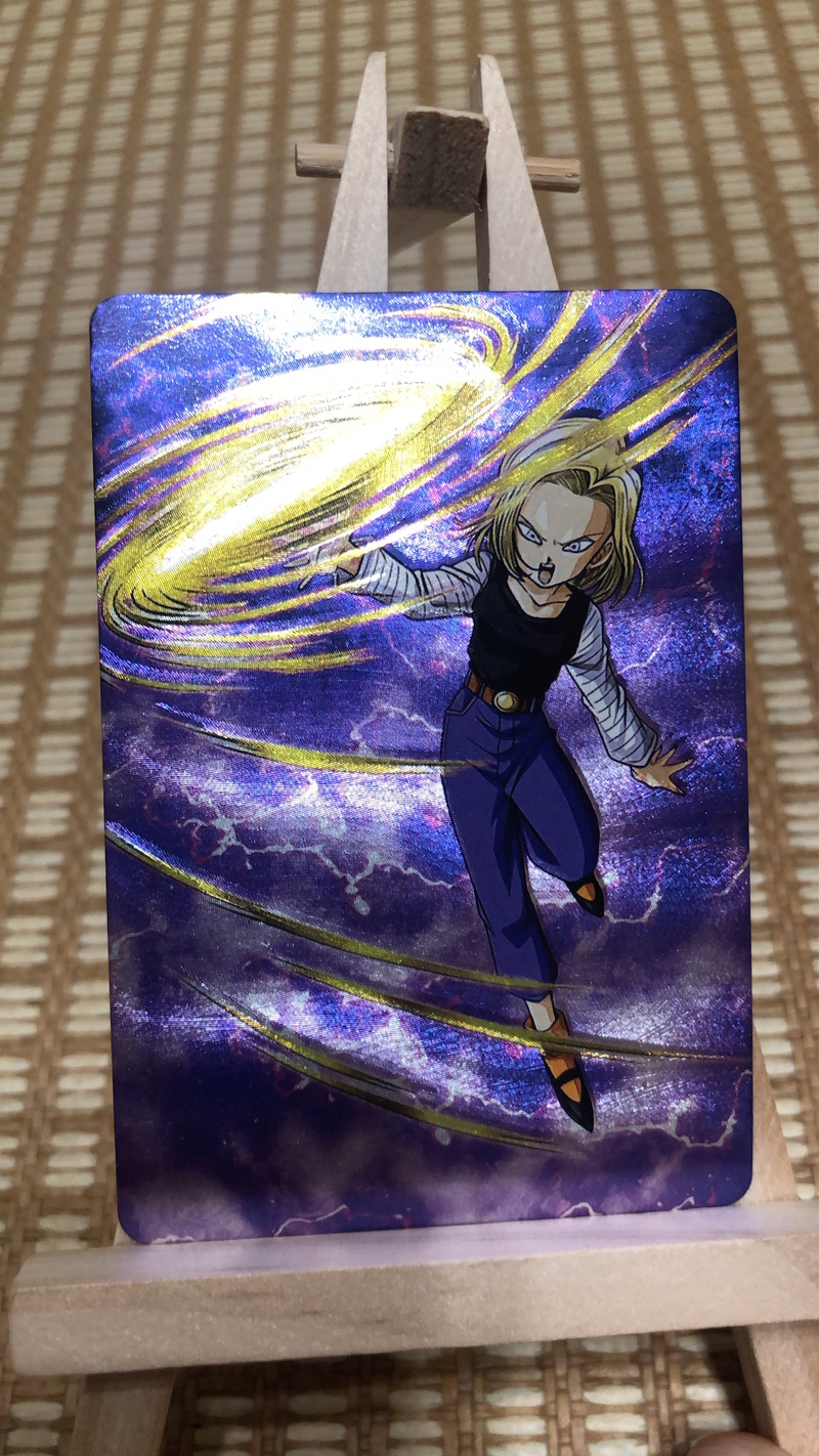 9pcs/set Dragon Ball Z Android 18 Burst Glare Super Saiyan Goku Vegeta Game Collection Cards Free Shipping Limit