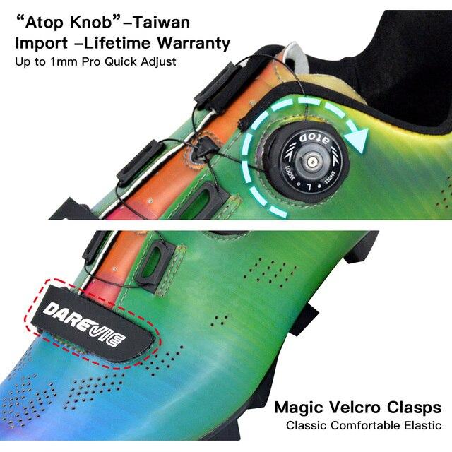 Darevie 2020 sapatos de ciclismo camaleão mtb ciclismo luz pro mountain bike sapatos spd reflexivo professionl 2