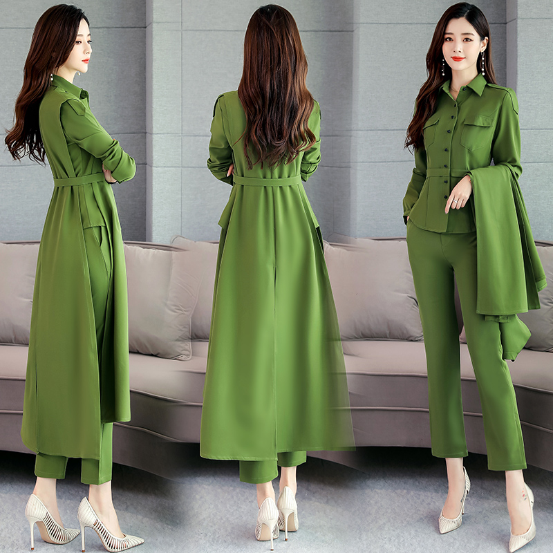 Goddess Women 2 Piece Set Top And Pants Professional Womens Office Sets Ensemble Femme Deux Pieces Korean Set Women's Suit