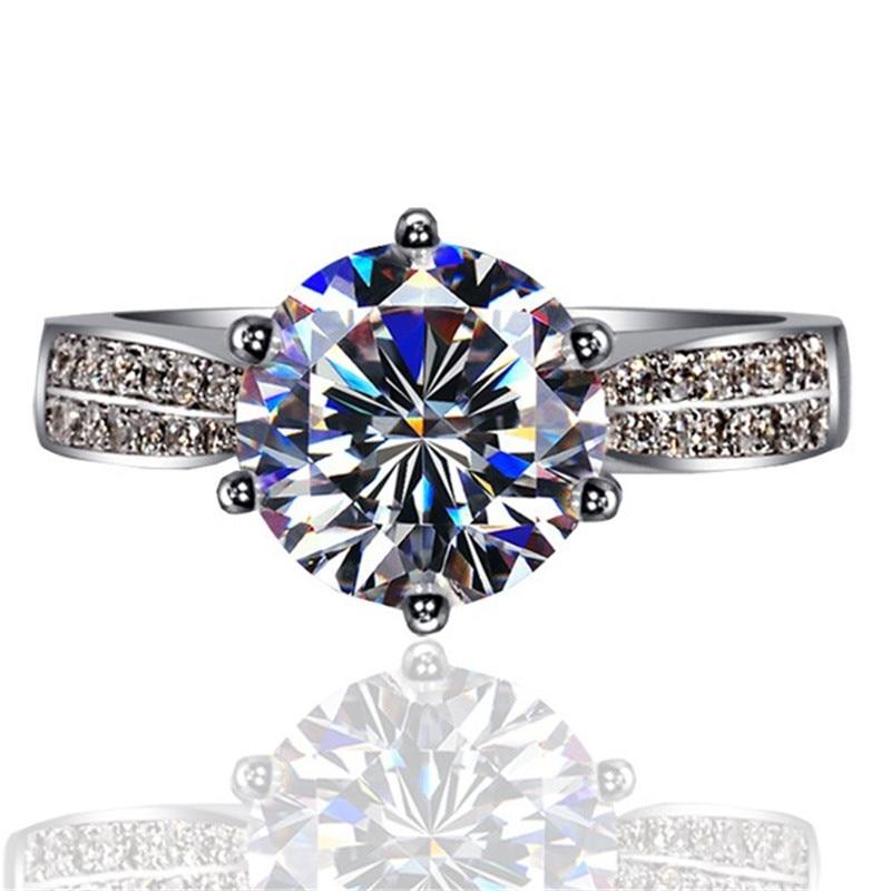 90% de réduction amoureux Lab diamant promesse bague 925 en argent Sterling fiançailles bague de mariage anneaux pour femmes hommes Fine fête bijoux cadeau 4