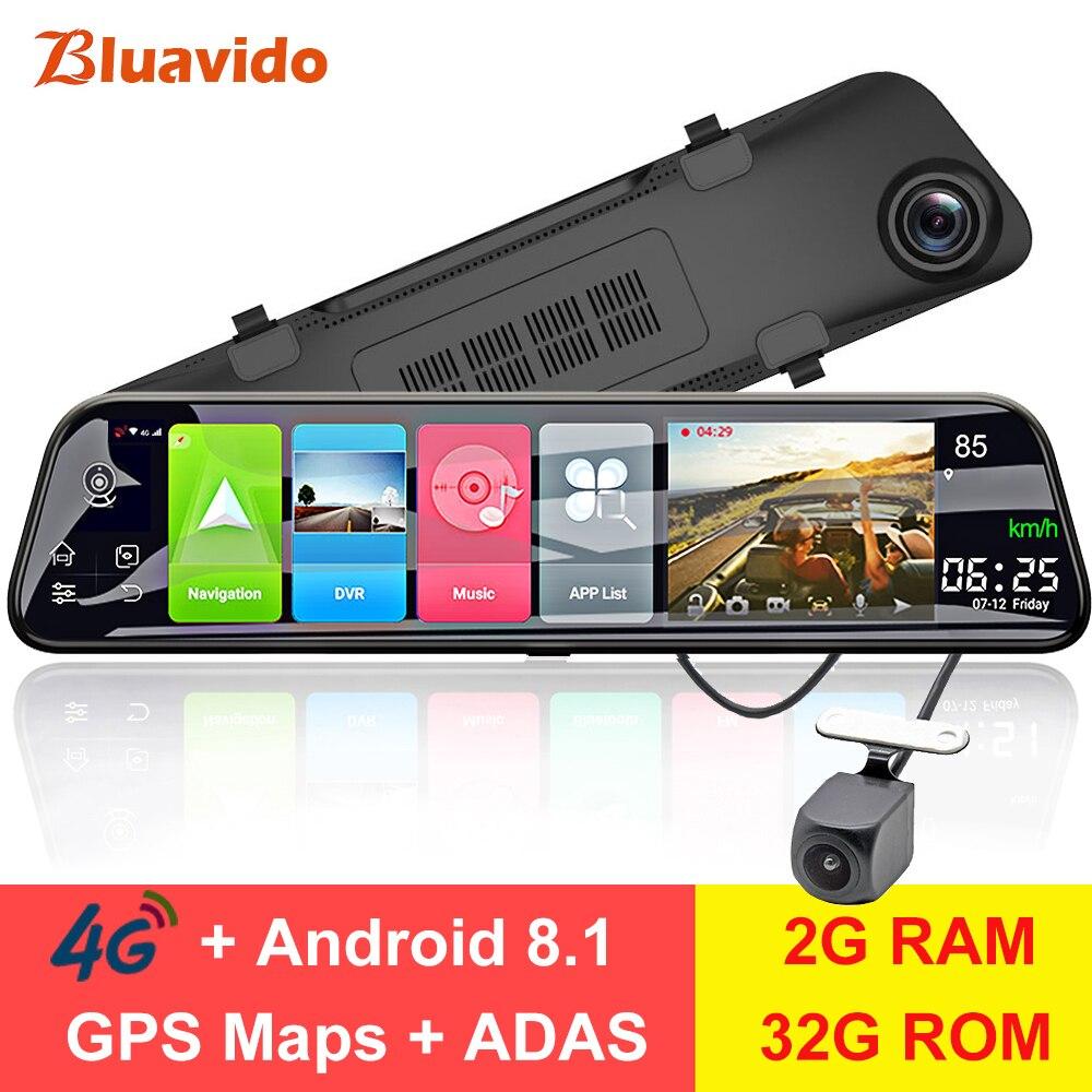 Bluavido 12 зеркало заднего вида 4G Android 8,1 dash камера 2G ram 32G rom gps навигация автомобильный видеорегистратор ADAS WiFi ночное видение