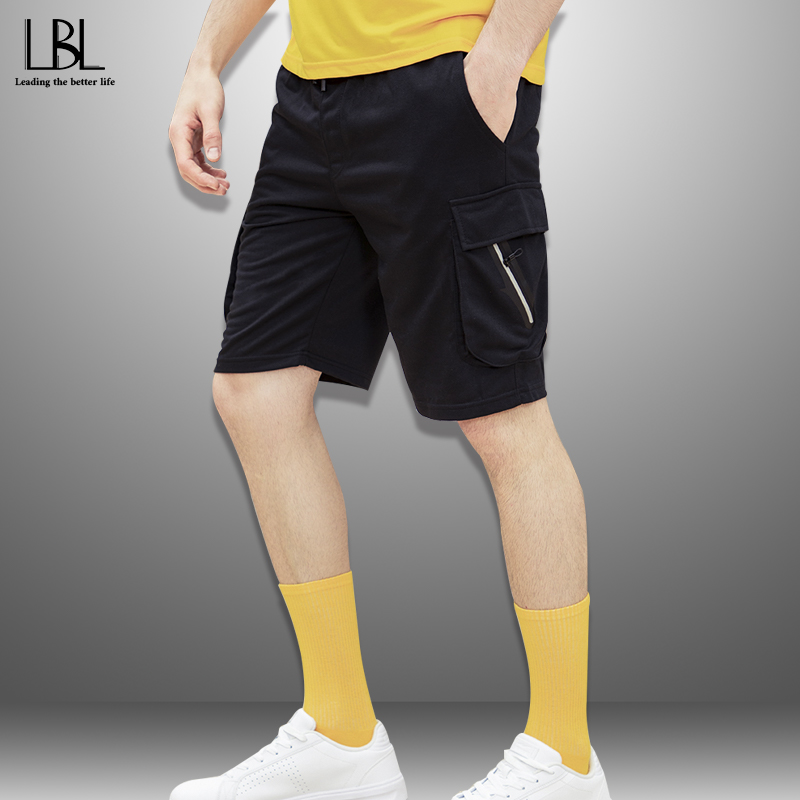 2020 Solid Men's Shorts 4XL Summer Mens Beach Shorts Outwear Casual Tactical Shorts Men Fitness Clothing New Short Pants Male