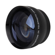 52mm 2X nification Telephoto Lens for Nikon AF-S 18-55mm 55-200mm Lens Camera(China)