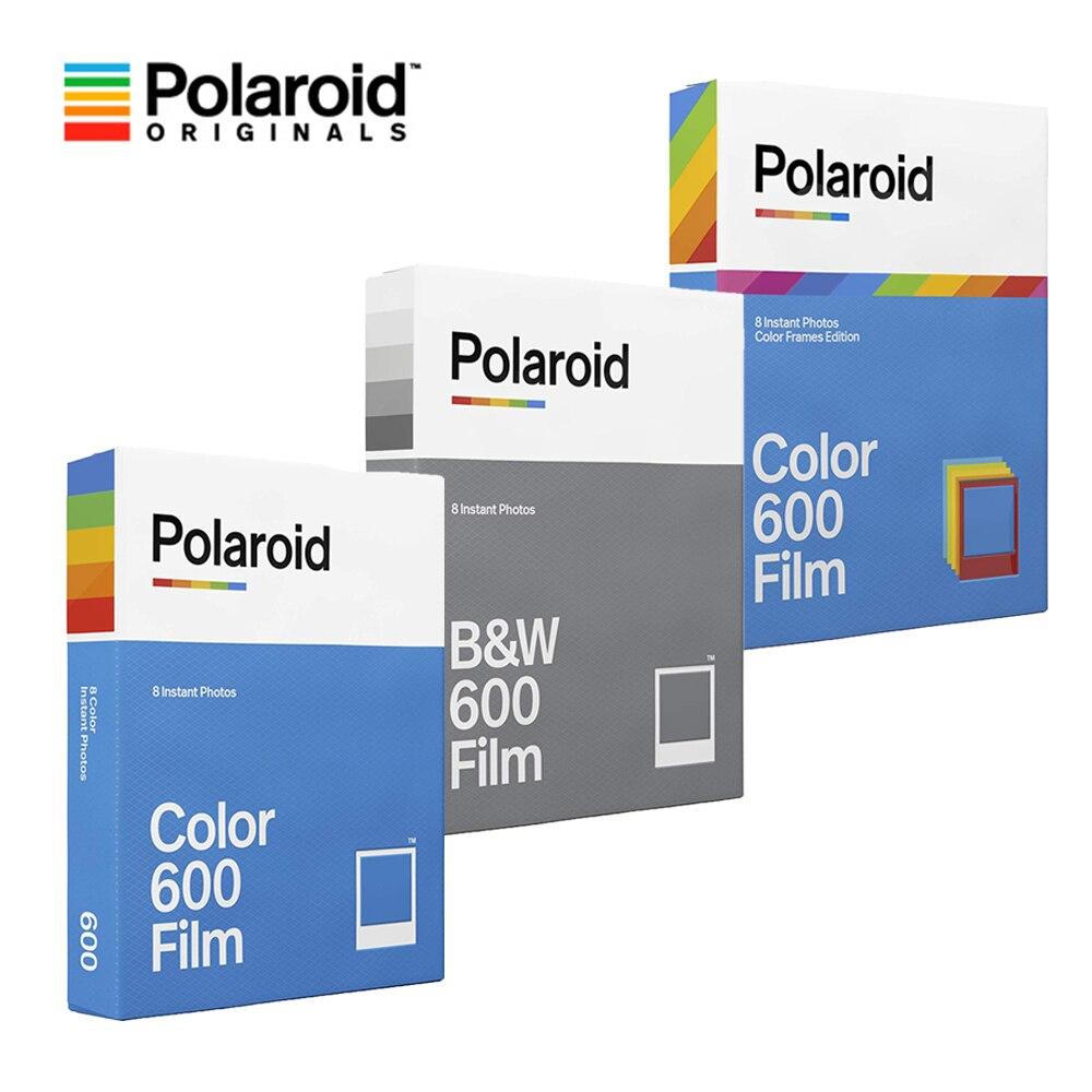 Оригинал Polaroid 600 B & W/цветная пленка мгновенная фотобумага 8 листов для Polaroid 636 637 640 660 Onestep2 Plus камера Instax