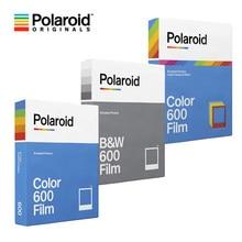 Original polaroid 600 b & w/color film papel foto instantânea 8 folhas para polaroid 636 637 640 660 onestep2 plus instax câmera