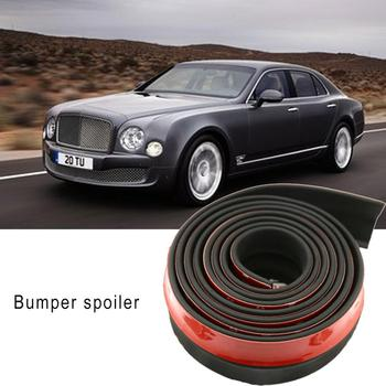 2.5M Universal Front Bumper Lip Splitter Car Body Lip Skirt Trim Spoiler Protector for Cars Truck SUV image
