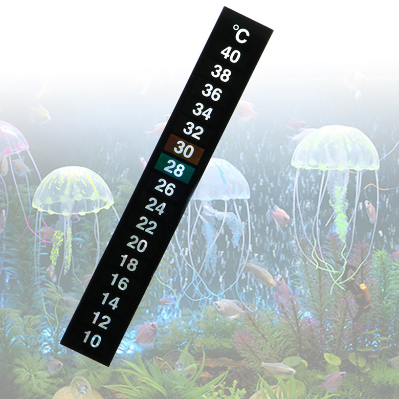 LCD 3D Crystal Digital Electronic Aquarium Fish Tank Thermometer Temp Meter Fridge Temperature Sticker Dual Scale Stick-on Parts