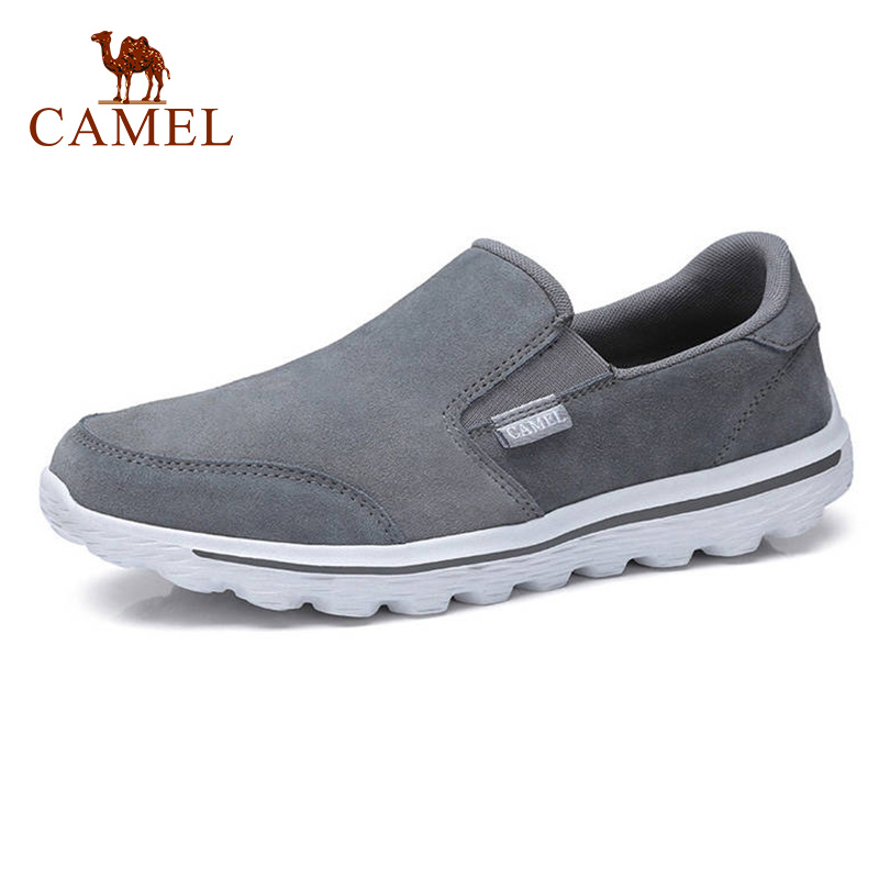 CAMEL New Men's Casual Shoes Leather Lightweight Sets Of Feet Men's  Cushioning Sole Comfortable Loafers Flats