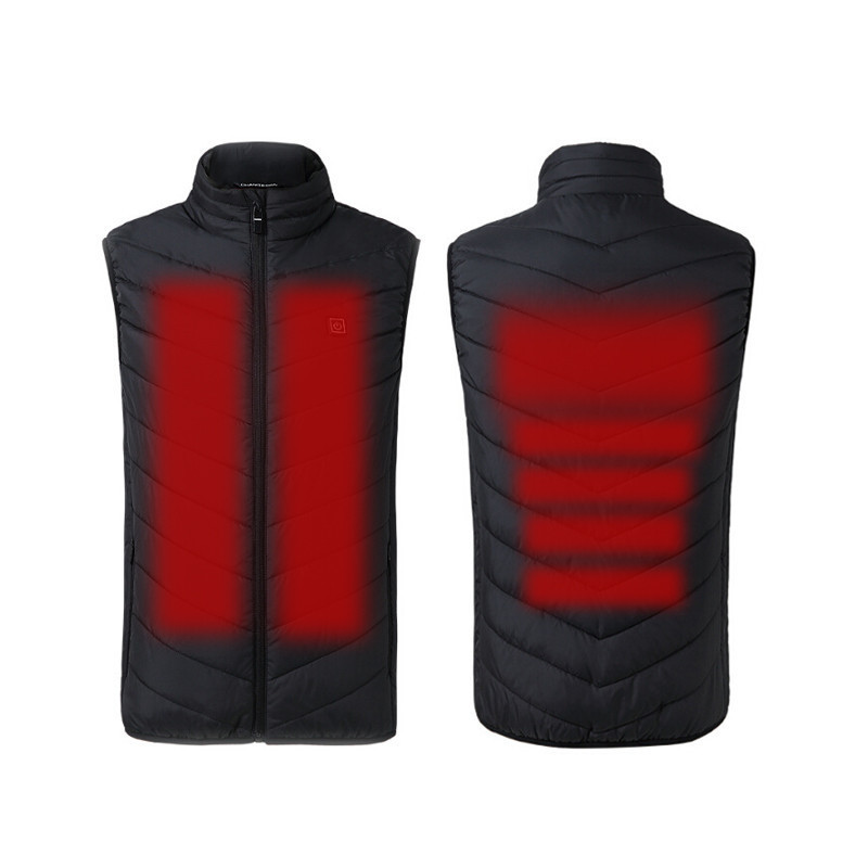 Outdoor Electric Heated Vest Heating Waistcoat Thermal Warm Clothing Feather Hot Sale Winter Heated Jacket 2019 New Technology