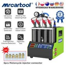 MRCARTOOL V308 Auto Kraftstoff Injektor Tester Reinigung Maschine Motorrad Benzin Injektor Tester Reiniger 4 Zylinder VS AUTOOL CT160