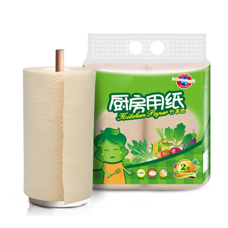 2 Rolls/pack Disposable Dish Cloths Cleaning Towel Kitchen Rag Multi Wood Pulp Toilet Paper