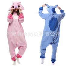 pajamasпижамапижамыPajama one piece fleece cartoon animal one piece pink pudding Stevens blue Stevens couple home clothes amanda stevens secret admirer