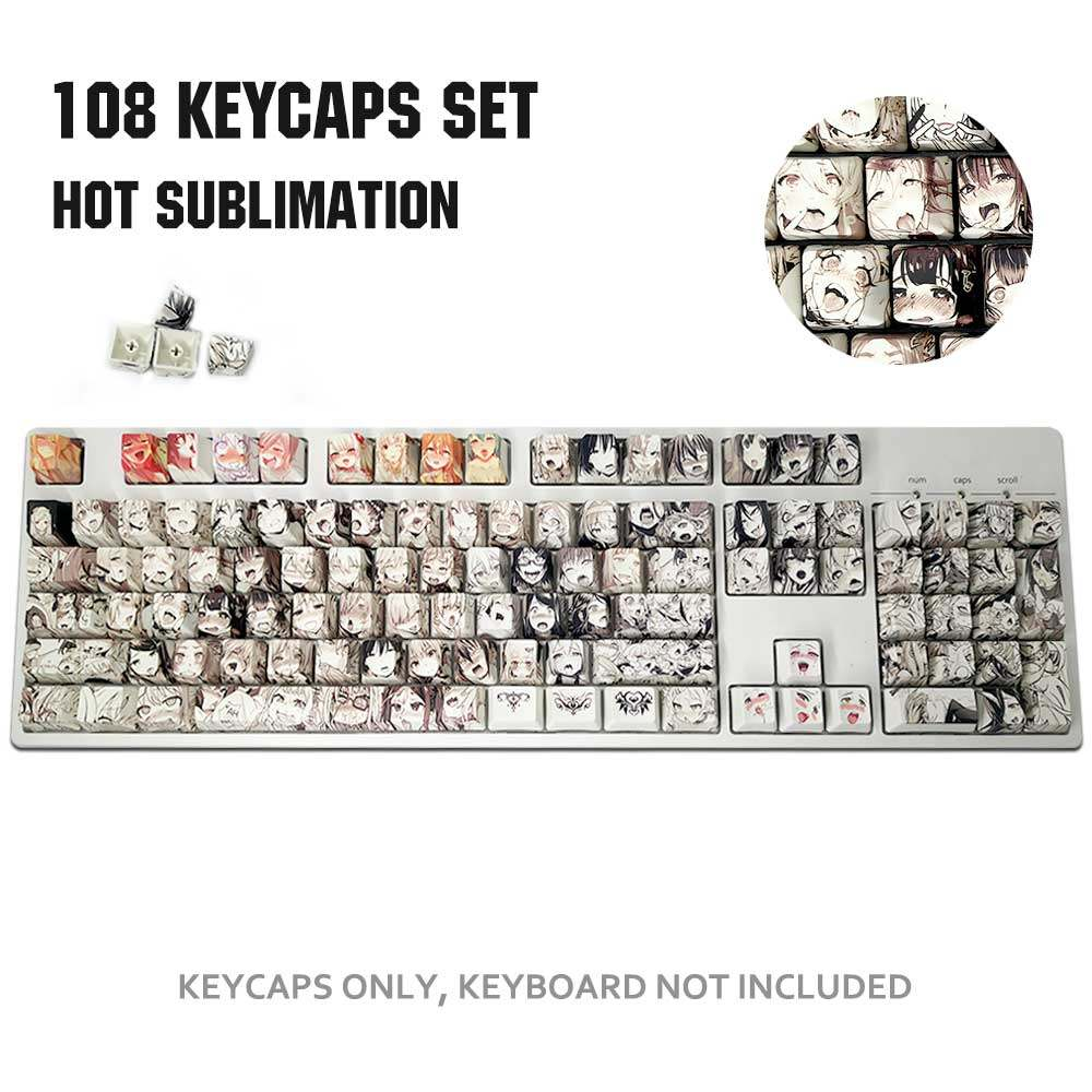 Colore : Overwatch Keyboard keycaps 1 Set of Transport High-end Backlit Keycap for Comics and Animation Girls Tunxing Lining Cap Key for Mechanical Keyboard F Zone