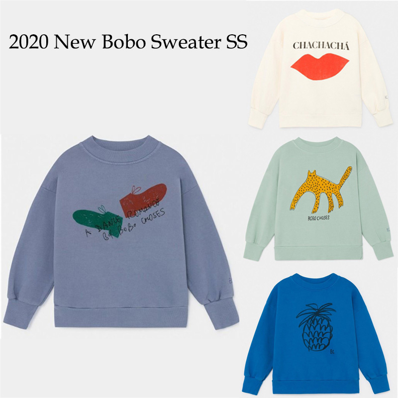 Kids Sweaters 2020 BC Brand New Spring Boys Girls Fashion Print Sweatshirts Baby Child Cotton Tops Outwear Clothes