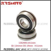 Фланцевый подшипник F6200 RS внутренний диаметр 13 мм наружный диаметр 29 мм толщина 9,1 мм толщина внутреннего кольца 11 мм(6 шт