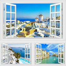 Mediterranean Aegean Sea And Venice 3D Scenery Wall Design Art Painting Home Living Room Decor Canvas Posters Pictures Prints