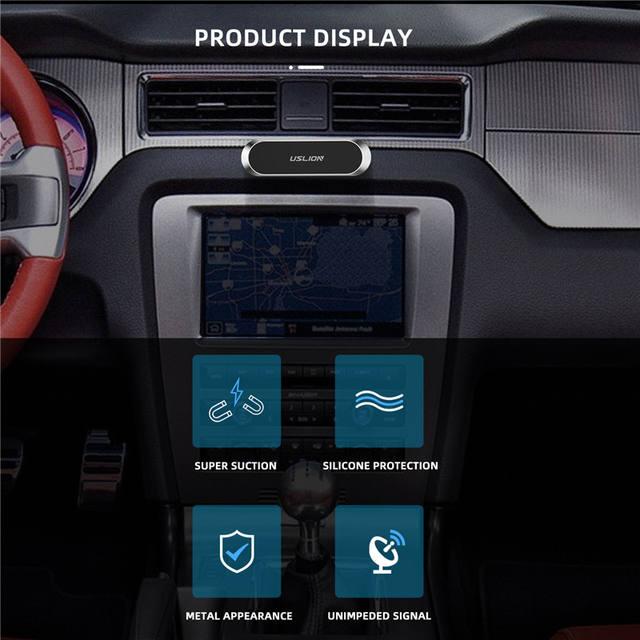 Magnetic Car Phone Holder Mini Universal Strip Shape Bracket for iPhone Samsung Xiaomi