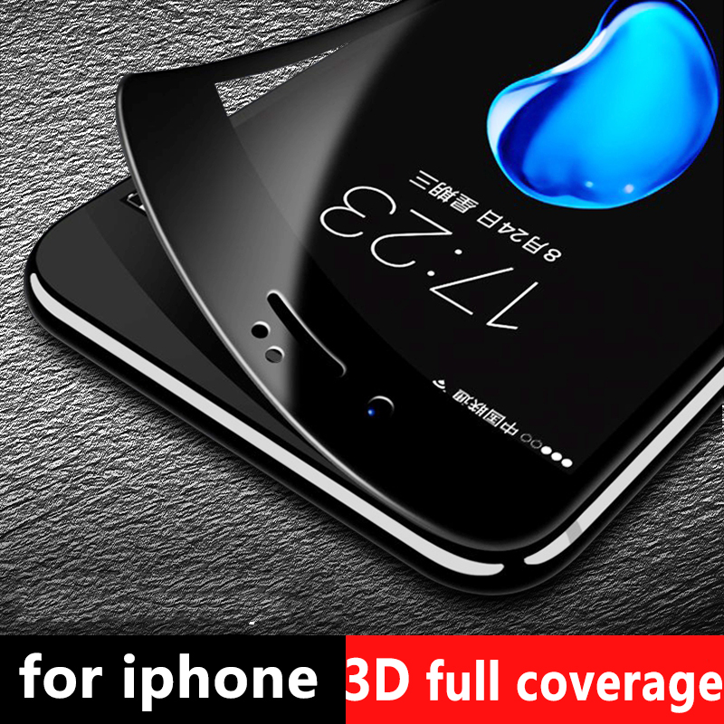 3D Soft edge carbon fiber Προστατευτικό γυαλί για iPhone 6 6S 7 8 Plus Full Covered Tempered Glass Screen Protector Film