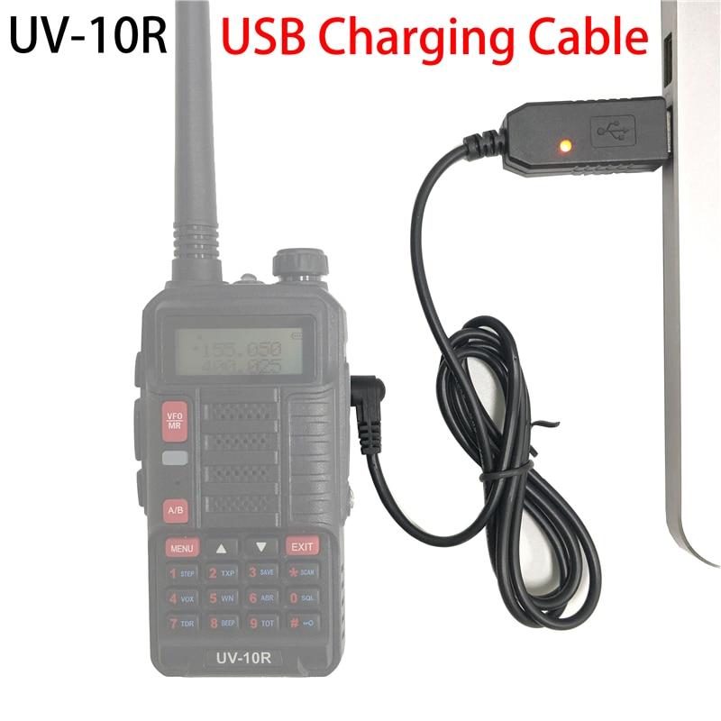 Baofeng UV-10R USB câble de chargement talkie-walkie USB Charge chargeur pratique BF UV10R USB-Charge 2020