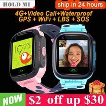 Y95 criança relógio inteligente telefone 4g gps à prova dwifi água crianças relógio inteligente wifi sim localização rastreador smartwatch hd chamada de vídeo do bebê relógio