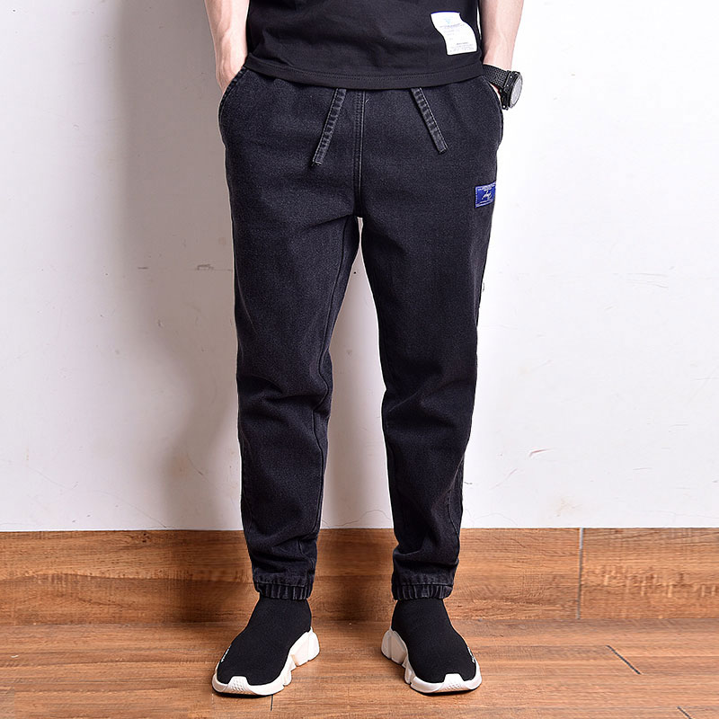 Japanese Fashion Men Jeans Loose Fit High Quality Harem Cargo Pants Vintage Designer Streetwear Hip Hop Jeans Men Joggers Pants