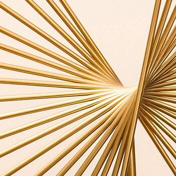 Strongwell Luz Nórdica Estatua Abstracta Geométrica Escultura De Metal Arte Moderno Posmoderno Decoración Del Hogar Accesorios Mesa De Regalo