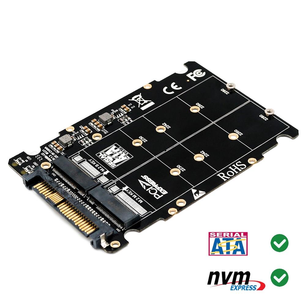 M.2 Nvme Ssd Key M Key B SSD To U.2 SFF-8639 Adapter,m2 M Key Adapter,m.2 Nvme To Sata (Non-SATA Interface)