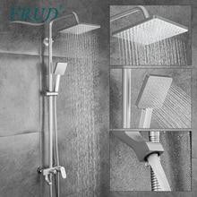 Frud Shower Faucet Space Aluminum Black Showers For Bathroom Rainfall Shower Set Bath Mixer R24001/R24001-6