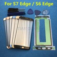 Сменное внешнее стекло для Samsung Galaxy S7 Edge G935 S6 Edge G925F, ЖК дисплей, сенсорный экран, переднее стекло, внешний объектив