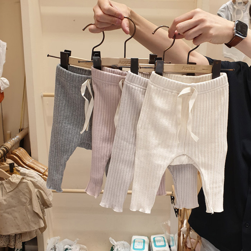 3098 Korean Spring And Autumn New Boys And Girls Baby Thread Cotton Casual Big PP Pants Baby Leggings