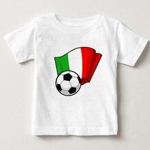 цена на 2019 Football children T-shirt boy and girl summer cotton T-shirt football sports breathable clothing boy football print jacket