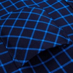 Image 5 - 2019 Inverno Plus size 5XL 6XL 7XL 8XL Tenere In Caldo Plaid di Affari Casual Camicia di Spessore Degli Uomini Con Fluff Moda termico Padre Vestiti