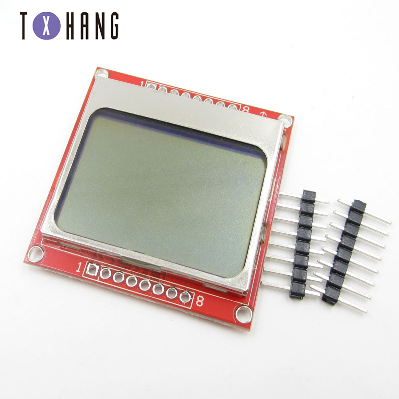 1pcs LCD TFT Display Module Monitor White Backlight Adapter PCB 84*48 84x48 for Nokia 5110 Screen Dot Matrix Digital For Arduino
