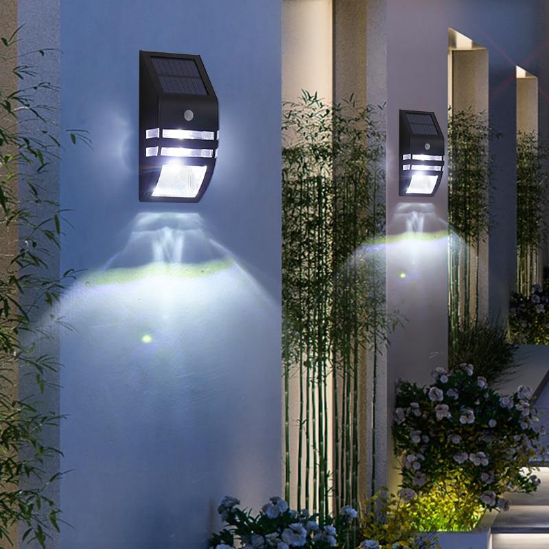 Solar Wall Light Modern Outdoor Led