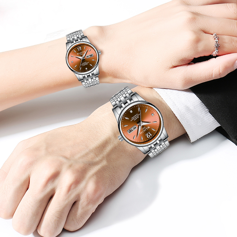 WLISTH Watches Wedding-Couple Clock Dress Gifts Waterproof Ladies Lovers Alloy for Steel