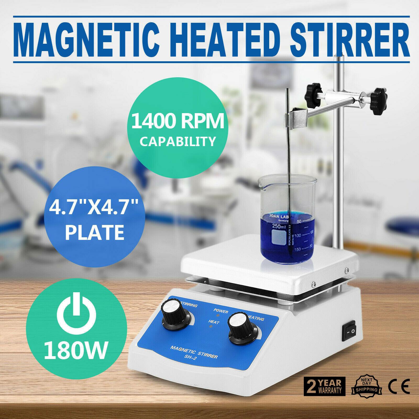 Sh 2 Магнитная мешалка с горячей плитой с двойным управлением нагревательный держатель для перемешивания лаборатория