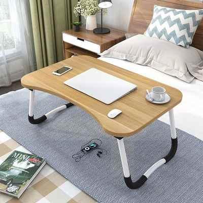 Складной держатель для ноутбука, портативный учебный стол, деревянный складной компьютерный стол для кровати, дивана, чайного стола