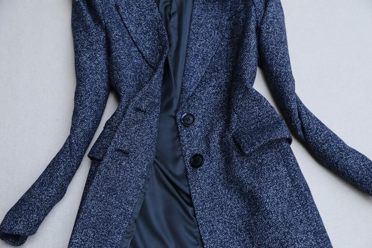 2 stück outfits für frauen herbst und winter neue mode temperament anzug grobe anzug jacke gerade breite bein hosen zwei stück - 6