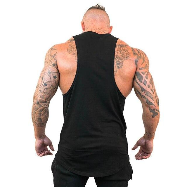 New Gyms Tank Top Summer Brand Cotton Sleeveless Shirt Casual Fashion Fitness Stringer Tank Top Men bodybuilding Clothing M-XXL 3